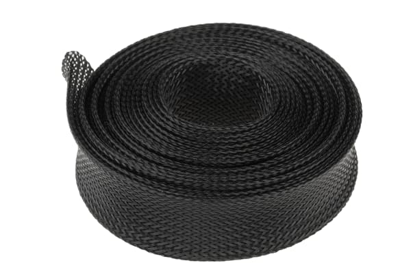 Product image for BLACK EXPANDABLE BRAIDED SLEEVE,30MM DIA