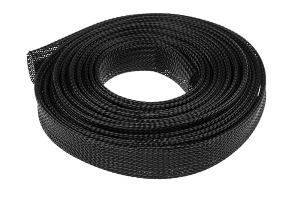 Product image for BLACK EXPANDABLE BRAIDED SLEEVE,20MM DIA