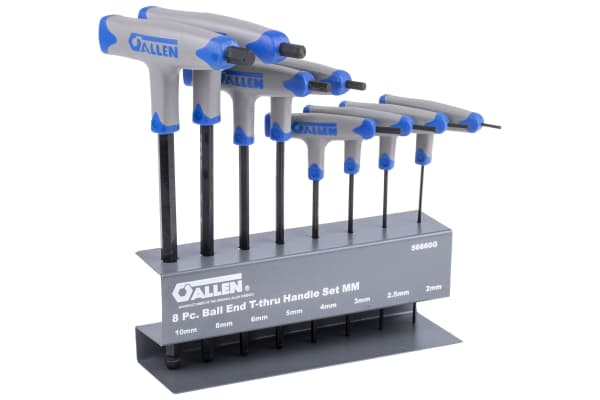 Product image for 8 PC. METRIC T-THROUGH HANDLE SET