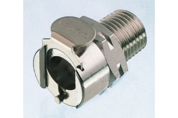 Product image for Straight Hose Coupling 3/8in Coupling Body - Valved, Thread Mount, 3/8 in BSPT Male, Brass