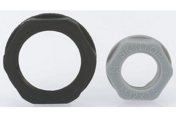 Product image for Locknut, nylon, grey, M25, IP68