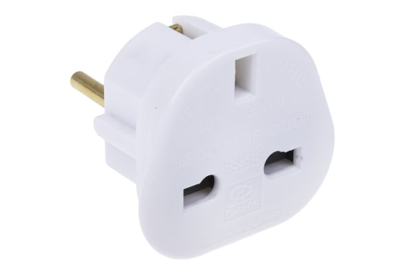 Product image for UK TO EUROPEAN MAINS ADAPTOR CONVERTER