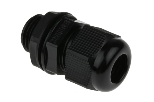 Product image for BLACK ROUND TOP IP68 CABLE GLAND,M16
