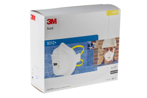 Product image for AURA 9312+ FFP1 VALVED DUST RESPIRATOR