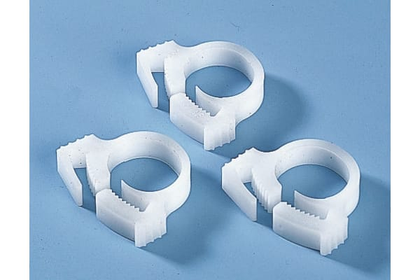 Product image for White cable snapper clip,8.7-10mm dia