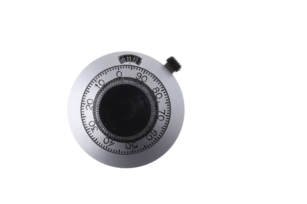 Product image for 15 turn dial,46.02mm dia,6mm metric bore