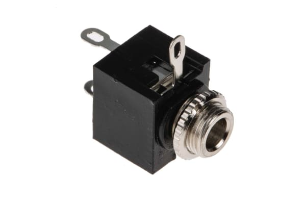 Product image for Enclosed chassis mount jack socket,3.5mm