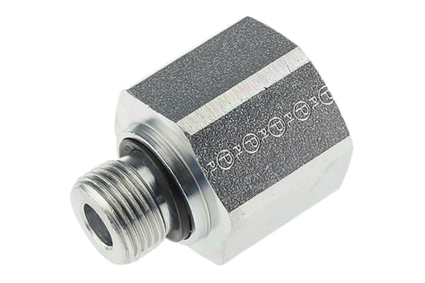 Product image for G3/8 xG1/2in BSPP M-F ZnPt steel reducer