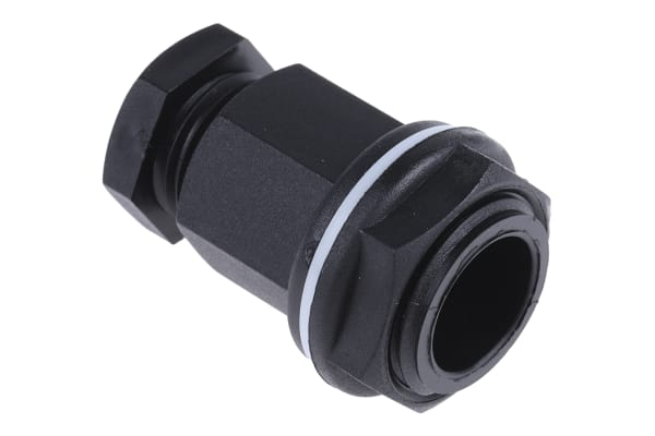 Product image for Blk HexHead IP55 4-7mm cablegland,M20