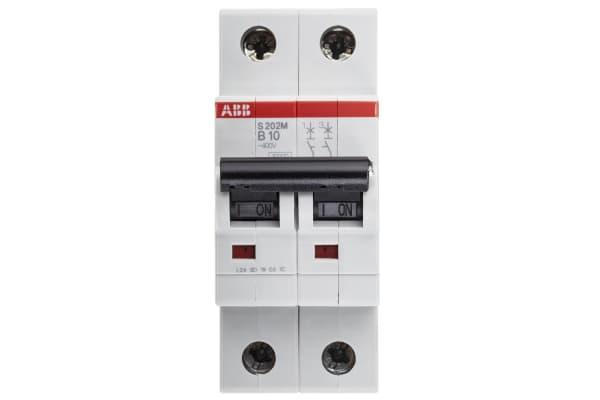 Product image for S200 MCB 10A 2 Pole Type B 10kA