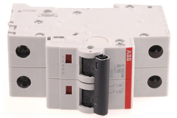 Product image for S200 MCB 16A 2 Pole Type B 10kA