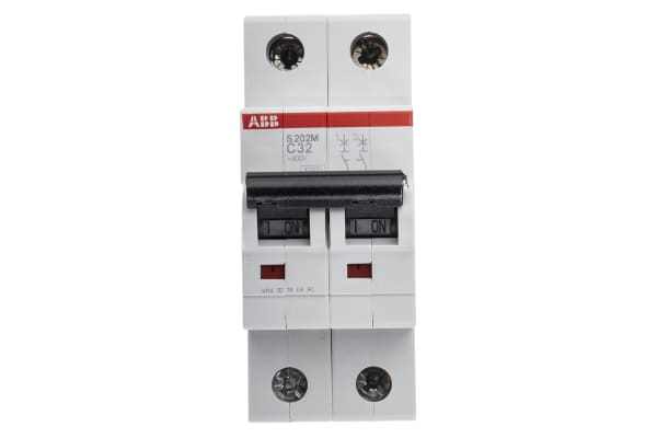 Product image for S200 MCB 32A 2 Pole Type C 10kA
