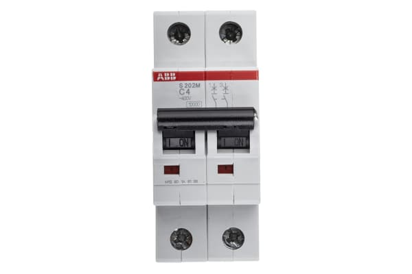 Product image for S200 MCB 4A 2 Pole Type C 10kA