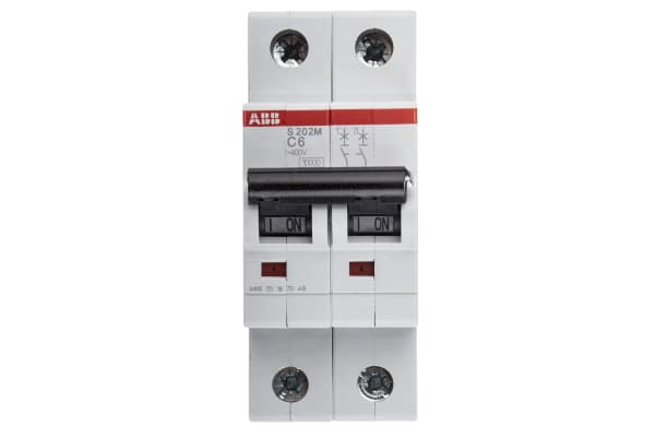 Product image for S200 MCB 6A 2 Pole Type C 10kA