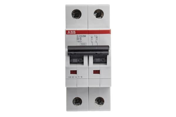 Product image for S200 MCB 6A 2 Pole Type B 10kA