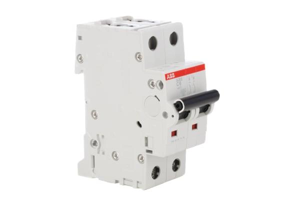 Product image for S200 MCB 20A 2 Pole Type C 10kA