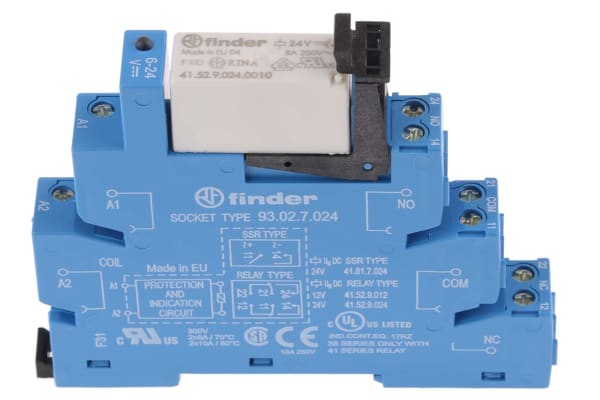 Product image for DPDT 8A interface relay, 24Vdc coil