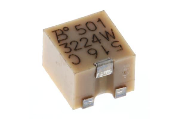 Product image for 3224W SMT topadj cermet trimmer,500R 4mm