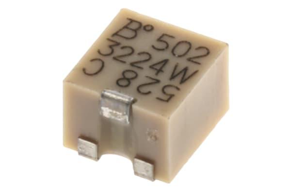 Product image for 3224W SMT top adj cermet trimmer,5K 4mm