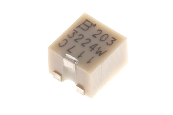 Product image for 3224W SMT top adj cermet trimmer,20K 4mm