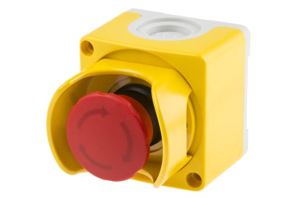 Product image for ABB Surface Mount Emergency Button - Twist to Reset, 2NC, Mushroom Head