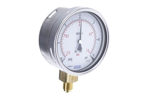 Product image for Pressure gauge,0-30Hg/0-15psi