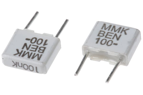 Product image for MMK5 radial poly cap,100nF 100V