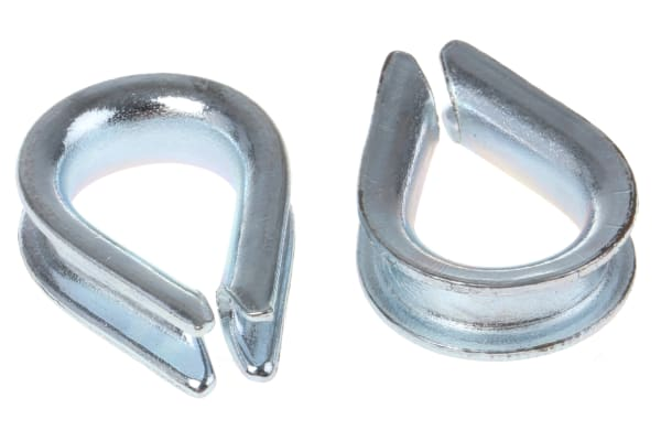 Product image for Galvanised wire rope thimble,3mm dia