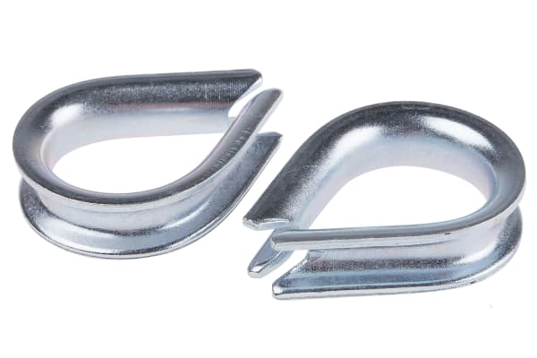 Product image for Galvanised wire rope thimble,6mm dia