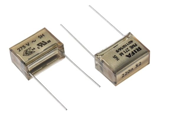 Product image for PME271M capacitor,220nF 275Vac 20.3mm