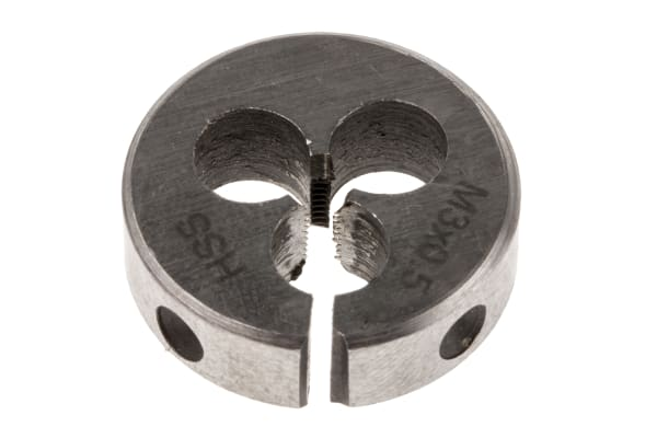 """Product image for Die M3x0.5mm pitch, stock size 13/16"""""""