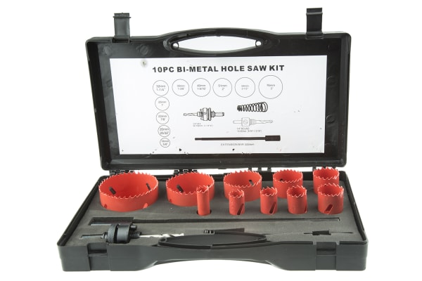 Product image for 11 piece maintenance hole saw kit