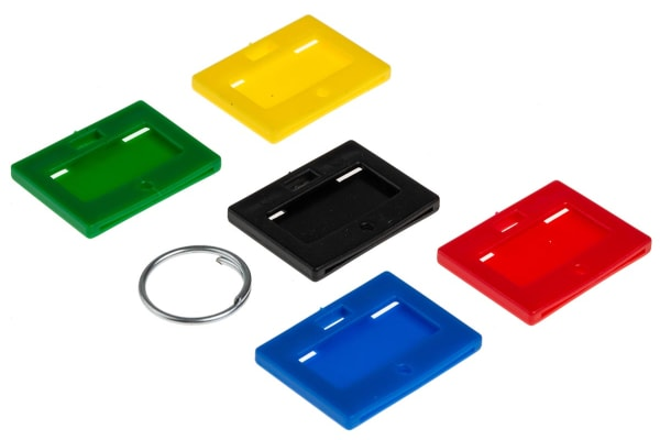 Product image for ASSORTED COLOUR KEY TAGS