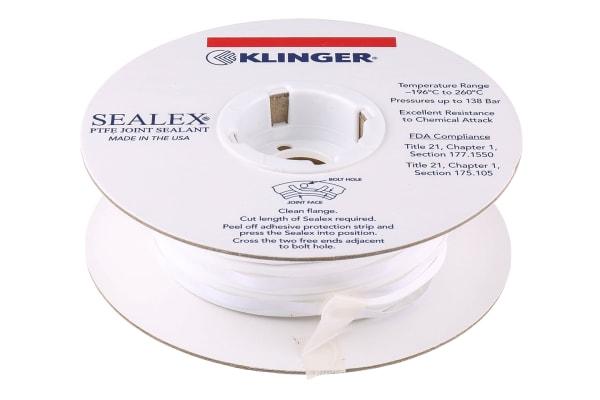 Product image for KLINGER PTFE TAPE 10MM X 8M X 3MM