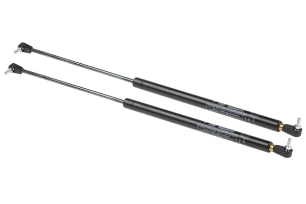 Product image for Camloc Steel Gas Strut, with Ball & Socket Joint, End Joint 200mm Stroke Length