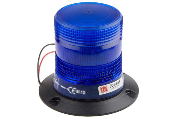 Product image for 10-100V 2W Blu Xenon beacon, 3 point fix