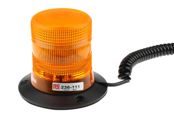 Product image for 12/24V 6W Amb Xenon beacon, Magnetic