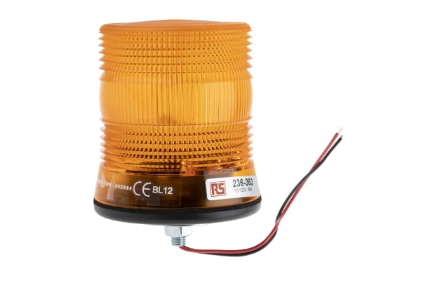 Product image for 10-100V 6W Amb Xenon beacon, 1 point fix