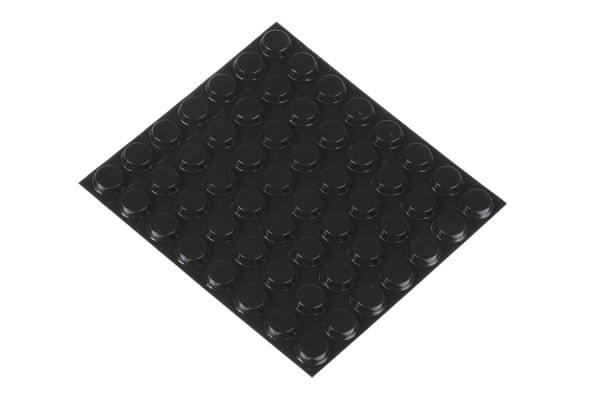 Product image for BLACK STICK ON FEET,12.7MM DIAX3.6MM H