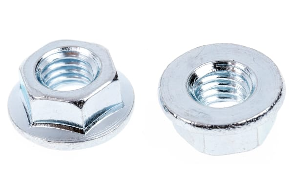 Product image for Zinc plated steel plain flange nut,M5