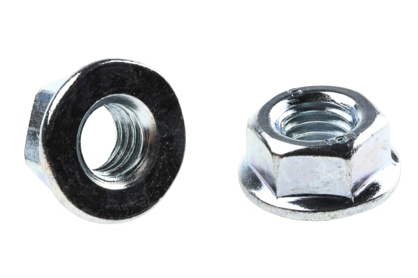 Product image for Zinc plated steel plain flange nut,M8