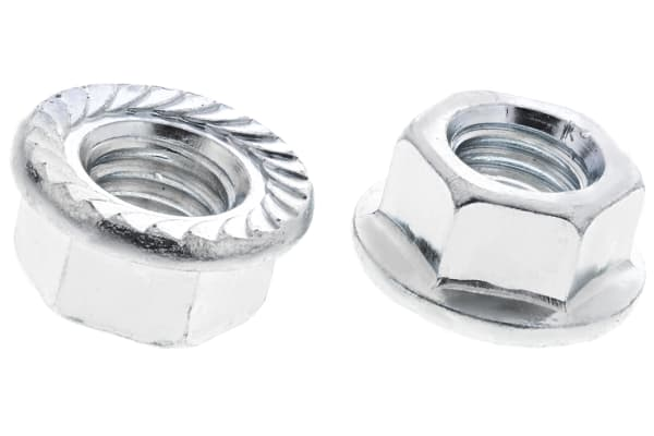 Product image for Zn plated steel serrated flange nut,M10