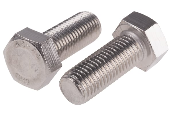 Product image for A2 s/steel hex head set screw,M20x50mm