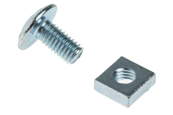 Product image for Zn plated steel roofing bolt&nut,M6x12mm