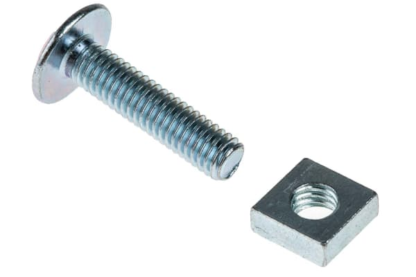 Product image for Zn plated steel roofing bolt&nut,M6x25mm