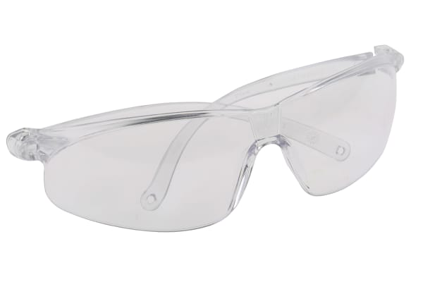 Product image for 3M PELTOR Tora Anti-Mist UV Safety Glasses, Clear Polycarbonate Lens, Scratch Resistant, Vented