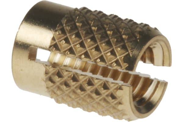 Product image for Brass push in expansion insert,M4 flush