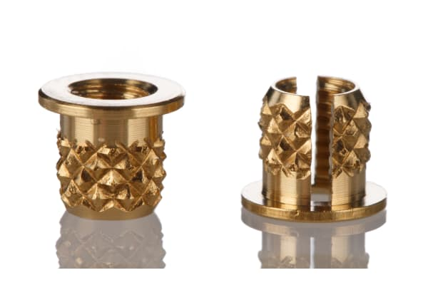 Product image for Brass push in expansion insert,M3 flange