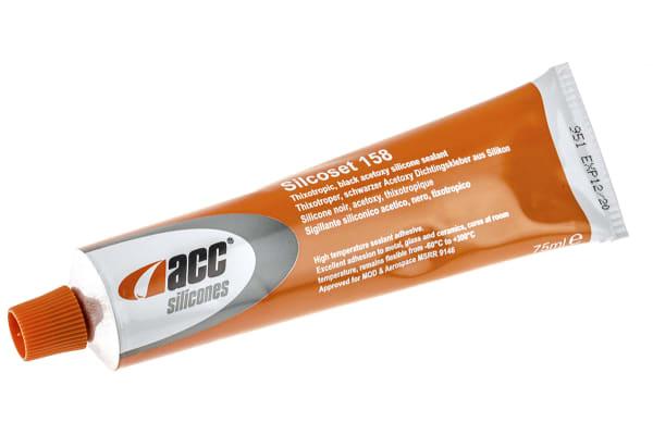 Product image for Acc Silicones Silcoset 158 Black Sealant Paste 75 ml Tube