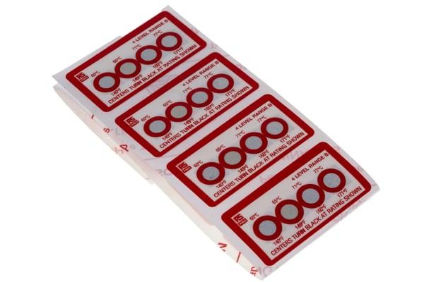 Product image for 4 level temp sensitive label,60-77degC